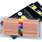Solabela® 12 Bi-Colour Cedar Wood Pencil Set - 24 Colours