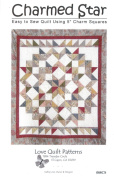 Charmed Star Quilt Pattern, Charm Pack 13cm Squares Friendly, Easy to Sew, 170cm x 190cm Finished Size
