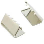 """Bluemoona 100 Pcs - 3/4"""" 19mm Belt Buckle End Tip Nickel For Webbing Tag Bag Polypropylene"""