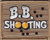 """""""B. B. SHOOTING""""- Iron On Embroidered Applique Patch- Sports, Compete.Gun"""