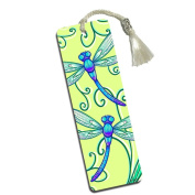 Delicate Dragonfly Printed Bookmark with Tassel