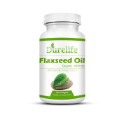 Organic Flaxseed Oil Softgels 1,000 Mg 240 Count, DureLife Cold Pressed Organic Flax Seed Oil Contains Omega 3 6 9 Essential Fatty Acids And Promotes Hair Skin And Nails And A Healthy Heart