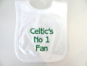 TEAM BABY BIB - CELTIC - FUN GIFT - BEAUTIFULLY EMBROIDERED - AS PER PIC - SAME.