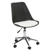 Solano Tulipa Office Chair Black with White Cushion
