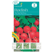 Carnival Seeds Tape Radish Red Cherry