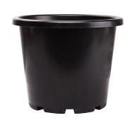 Interworld Recycled Resin Round Planter Pot Black 15L