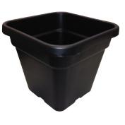 Interworld Square Black Recycled Resin Planter Pot 10L