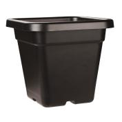 Interworld Square Black Recycled Resin Planter Pot 18L