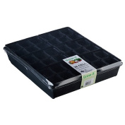 Interworld Standard Tray with 6 x 6 Cell Punnets Black