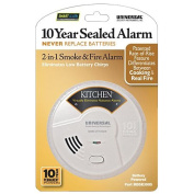 2-in-1 10 Year Sealed Smoke and Fire Alarm - Kitchen