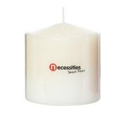 Necessities Brand Pillar Candle White 7.5cm x 7.5cm