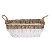 Solano Willow Basket Laundry Rectangle Dipped White
