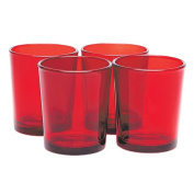 Tealight Holders Set Red 4 Pack