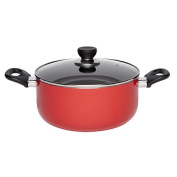 Living & Co Covered Casserole Red 24cm