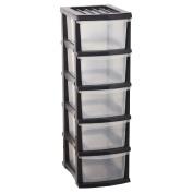 Taurus Storage Drawers 5 Tier Grey