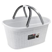 Stefanplast Elegance Basket with Handle White