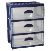 Taurus Storage Drawers A2 3 Tier Assorted