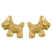 9ct Gold Scotty Dog Earrings