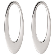 Sterling Silver Oval Drop Studs