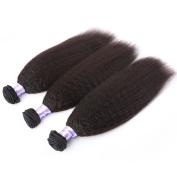 Instylehair 100% Virgin Brazilian Human Hair Extensions Kinky Straight 3-Pack (50cm , 60cm , 60cm )300g Grade AAAAAA