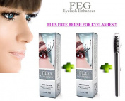 2 X BEST Eyelash Growth Product and Eyebrow Thickener. Most Effective Growth Serum with Conditioner used to LENGTHEN & THICKEN Eyelashes and Eyebrows; FEG is a Powerful Stimulator Treatment that Prevents Thinning & Breakage; Helps Promote Vitality & St ..