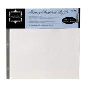 Grants Scrapbook Album Refill Pages White 12 x 12 50pk