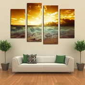 ASENART Special Chinese Styles Golden Buddha Canvas Printing Modern Wall Art Decor 3 Panels Set