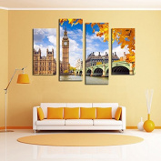 ASENART Colourful Feather Canvas Printing Modern HD Art Picture Wall Decor 3 Panels Set