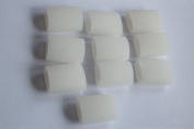x10 pieces of FootTrek Soft Silicone/Polymer Gel Toe Tube Protectors/Separators 3.6cm long for smaller/lesser toes ie