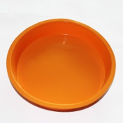 Vancgoods 22cm Round Cake Baking Mould Mould Cake Pan Flexible Bread Chocolate Pizza Baking Tray Silicone Mould Moulds