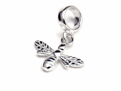 Genuine Silver 925 bee charm bead ideal for branded bracelet or necklace