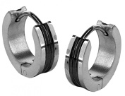 The Jewelbox Bali Rhodium Plated Surgical Stainless Steel Pair Stud Earring for Men