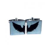 Cool Split Design Swooping Owl in Flight Cufflinks X2BOCS274