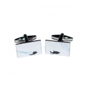 Deep Sea Diver & Shark Cufflinks X2BOCR148