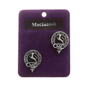 Heritage of Scotland Pewter Scottish Clan Round Cufflinks - Names starting with letter M