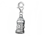 SEXY SPARKLES Women's Fire Hydrant Charm Pendant For European Clip On Charm Jewellery With Lobster Clasp