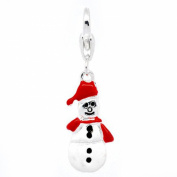 SEXY SPARKLES Women's Christmas Snowman Charm Pendant For European Clip On Charm Jewellery W/ Lobster Clasp