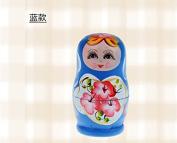 SHINA Lovely Russian Nesting Matryoshka 5-Piece Wooden Doll Set Hand painted