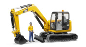 Yellow Construction Builders, Brother 02466 - Cat Mini Excavator with
