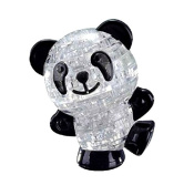3D Cute Panda Crystal Puzzle Jigsaw DIY IQ Intellectual Toy Kids Gift Game CJ450