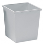 5 Star Waste Bin Square Metal Scratch Resistant W325xD325xH350mm 27 Litres Grey