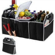 Car Boot Organiser Shopping Tidy Heavy Duty Trunk Collapsible Foldable Shopping Bag & Cooler Storage