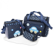 Cute as a Button - 4 piece Nappy Changing Baby Nappy 4pcs Bag set - including Change mat
