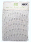 Cellular blanket moses basket pram crib baby 100% cotton WHITE