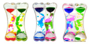 Pack of 3 Liquid Double Coloured Timers Assorted Colours By Playlearn
