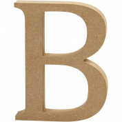 Letter, H: 13 cm, MDF, B, 1pc