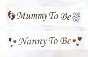 Baby Shower Sash- Mummy/Nanny To Be Party Satin Decoration Maternity Gift Favour