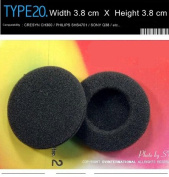 Replacement Foam Earpads for , Compatible With CRESYN CH300, PHILIPS SHS4701, Sony Q38, Most Other Headphones / Earphones / Headsets (38mm Black) EP-20