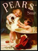 FRENCH VINTAGE METAL SIGN 30x20cm RETRO AD PEARS SOAP 2