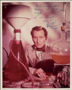 PETER CUSHING AUTOGRAPH GLOSSY PHOTO PRINT